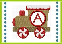 200GingerbreadTrainMonogram