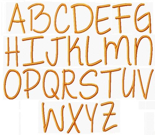 Alphabet Georgia Peach