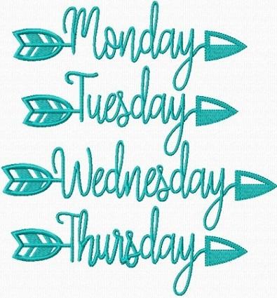 Arrow Days Of The Week