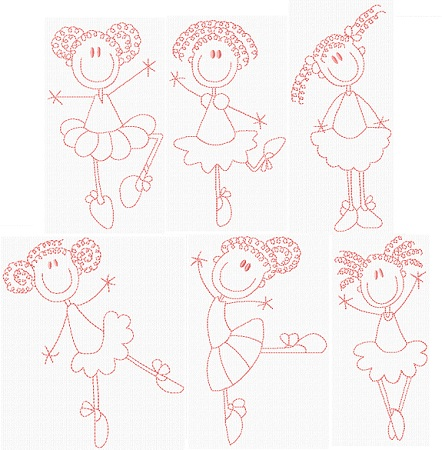 Stick Kids Ballerina I