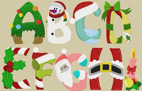Christmas Alphabet.Alphabet Christmas