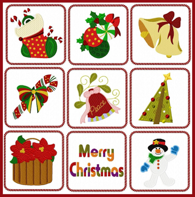 Machine Embroidery Christmas Designs For Sale