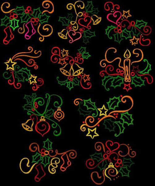Christmas Color Work