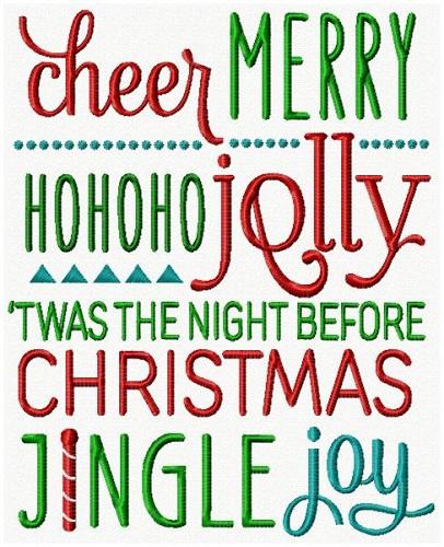 Christmas Lettering IV