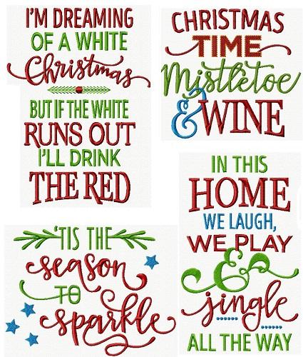 Christmas Lettering VI