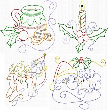Christmas Swirls II