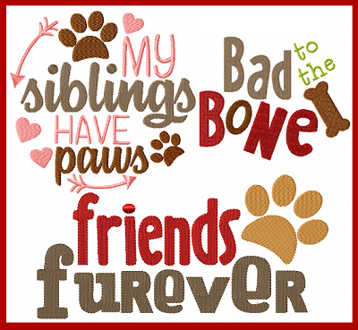 Furry Dog Sayings I