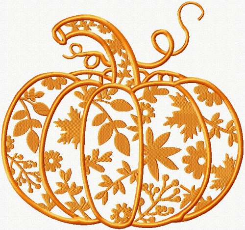 Fall Paper Cut Pumpkin