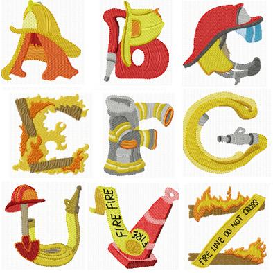 Alphabet Fireman