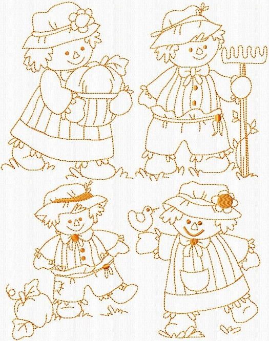 Little Fall Scarecrows