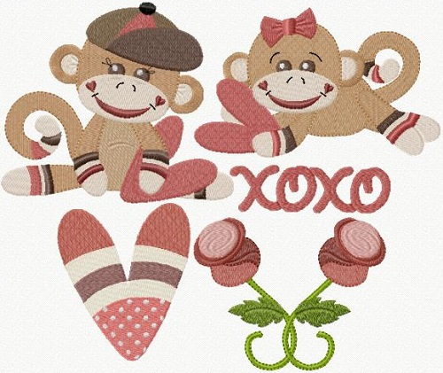 Valentine Monkey Love