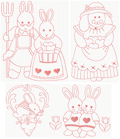 Vintage Easter Bunnies