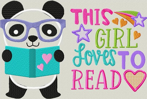 Reading Pillow Panda Girl