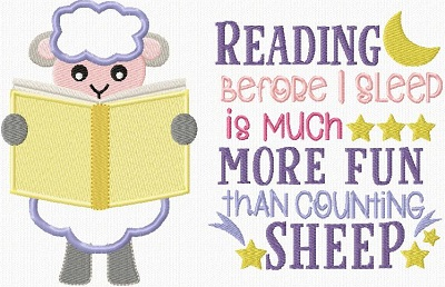 Reading Pillow Sheep