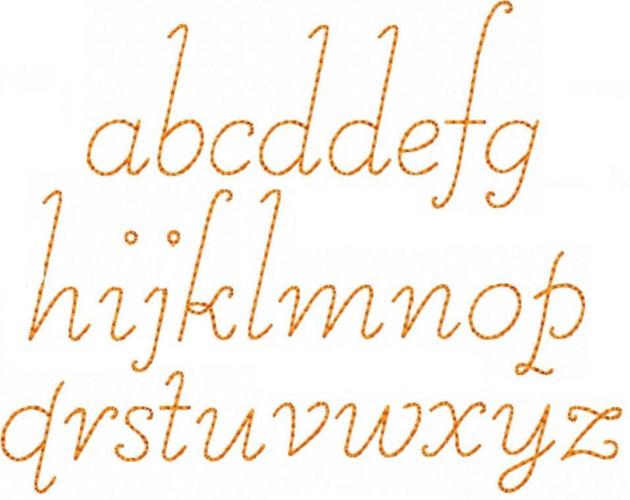 Alphabet Redwork