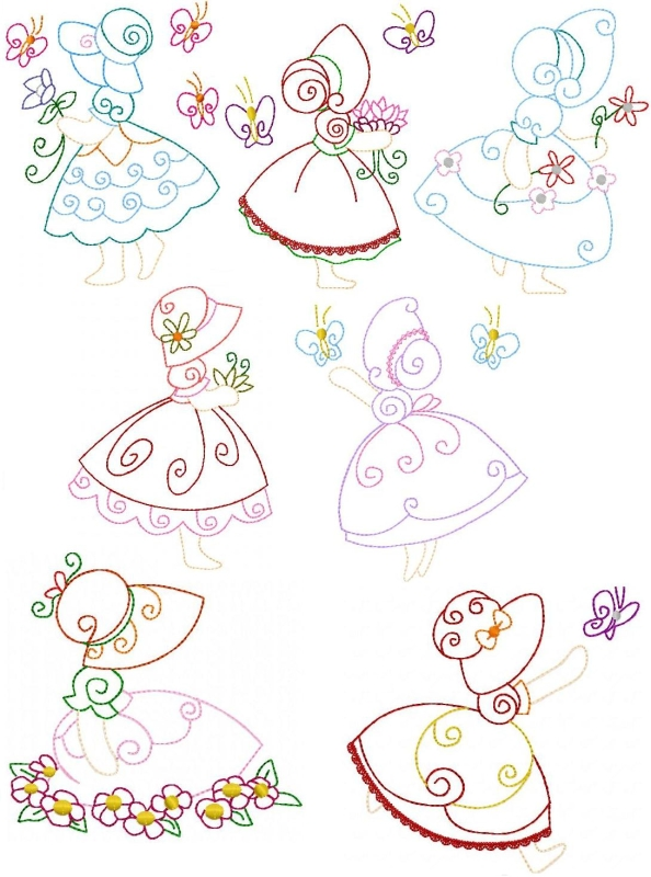 Group of butterflies coloring pages