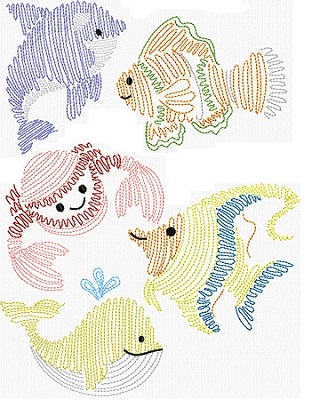 Swirly Sea Friends