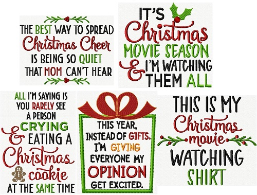 Sassy Christmas Lettering VI