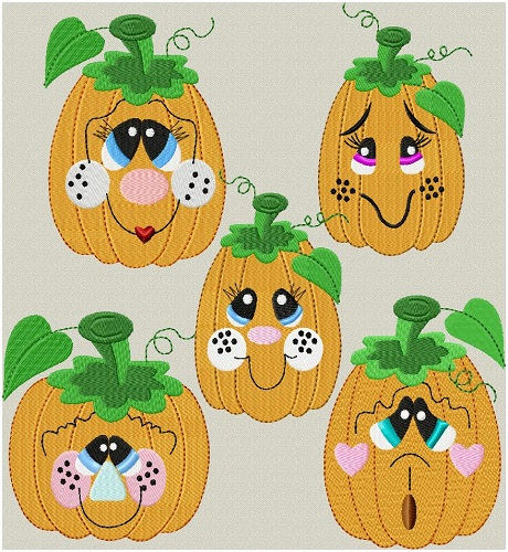 Silly Pumpkin Faces I