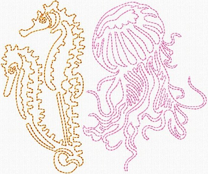Squiggly Sea Animals