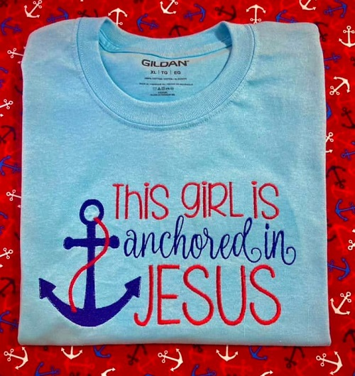 This Girl Is Anchored In Jesus