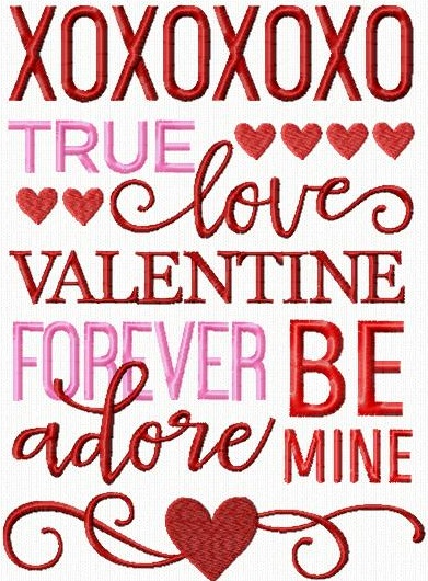 Valentine Word Art II