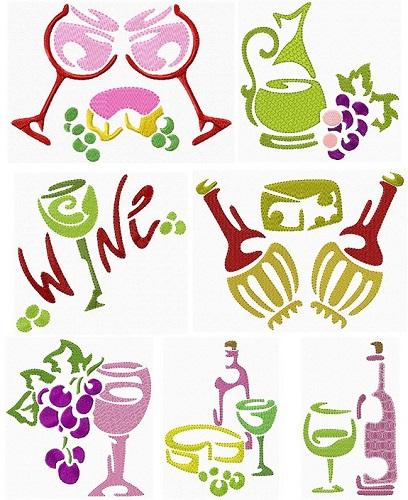Wine Stencils I